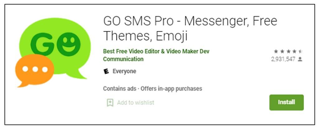 Приложение Go SMS Pro раскрывает данные миллионов пользователей по ссылкам